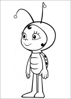 48 fantastiche immagini su ape maia bees coloring pages