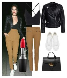"""""""Trendsetter"""" by rhmz on Polyvore featuring Loro Piana, Topshop, Sisters Point, Gucci, Alexander McQueen, MAC Cosmetics, women's clothing, women's fashion, women and female"""