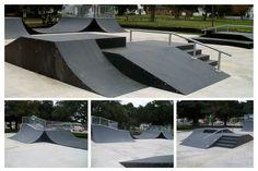 Pro Series References - American Ramp Company - Skatepark Builders and Designers Skate Park, Livingston, Portsmouth, Exterior, American, Image, Sport, Design, Banisters