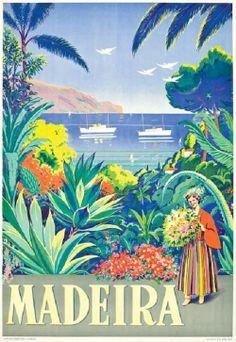 Vintage Travel Poster - Madeira ~ Portugal.
