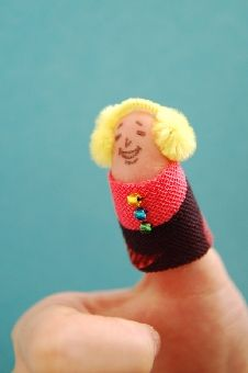 finger puppet!  oh I guess it's actually a thumb puppet ;)