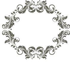 Frames para monogramas grátis para baixar - Cantinho do blog Layouts e Templates para Blogger