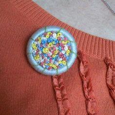 Dorset Button Spring Garden by DariaWilberStudio on Etsy, $30.00