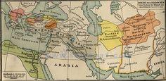 Mapa de los imperios Ptolemaico y Seléucida