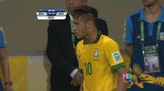 Neymar's kiss- teasing an opponent but still MMMM