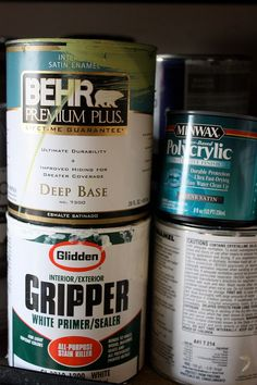 Use Gripper primer when painting laminate furniture