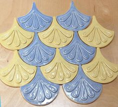 Craftsman Handmade Tile for Fireplace, Kitchen & Bath by FayJonesDayTile Mermaid Tile, Craftsman Tile, Fish Scale Tile, Prairie Style Houses, Geometric Tiles, Dragon Scale, Fish Scales, Handmade Tiles, Lavender Blue
