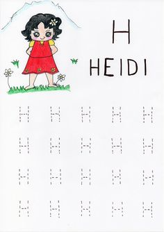 H come Heidi Arabic Alphabet For Kids, Minecraft, Dads, Spring, Fathers