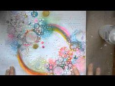 Mixed Media Layout Tutorial - with Gelatos and Shimmerz Prima Marketing: paper, flowers, metal embellishments, stencil, stamp Shimmerz: paints, mists, embossing enamel Blue Fern Studios: chipboard Faber Castel: Gelatos Liquitex: Modeling paste, gesso Sharpie Paint pen (white)