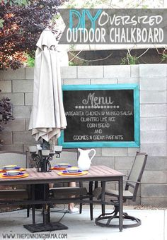 Easy DIY Oversized Outdoor Chalkboard