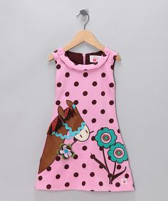 Take a look at this Pink Polka Dot Pony Dress - Toddler & Girls by Chatti Patti on #zulily today!  #fall