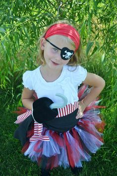 easy pirate costume, all my kids are being pirates this year. Pirate Tutu, Pirate Halloween, Pirate Day, Pirate Birthday, Halloween Party, Homemade Costumes, Homemade Halloween, Halloween Outfits, Halloween Costumes