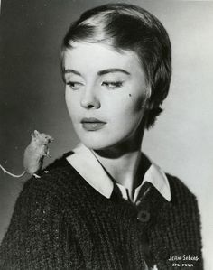 Jean Seberg and a mousy little friend