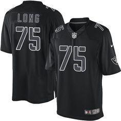 Mens Nike Oakland Raiders #75 Howie Long Elite Black Impact NFL Jersey