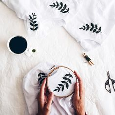 Embroidery - Hand Embroidery - Embroidery t shirt - Embroidery tshirt - Womens c. - Embroidery – Hand Embroidery – Embroidery t shirt – Embroidery tshirt – Womens clothes – White t shirt – Botanical Embroidery – cupofneedles- Source by lucyephotos - Hand Embroidery Stitches, Embroidery Hoop Art, Hand Embroidery Designs, Embroidery Ideas, Hand Stitching, Embroidery Sampler, Embroidery On Tshirt, Jean Embroidery, Beginner Embroidery