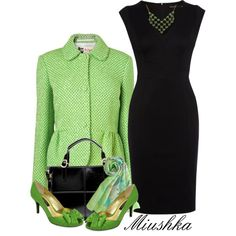 Color Zone 14: Green by miushka on Polyvore featuring moda, Karen Millen, Boutique by Jaeger, Nina and 1928