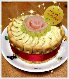一歳の離乳食お誕生日ケーキ