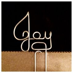 Hey, I found this really awesome Etsy listing at https://www.etsy.com/listing/242351098/joy-wire-bookmark-paperclip