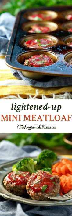 Lightened-Up Mini Meatloaf is an easy, family-friendly, and healthy dinner! This low-calorie comfort food will nourish your body, mind, and soul!