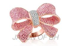 Pink Diamond Bow Ring