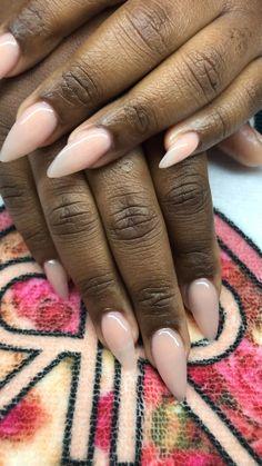 French Tip Acrylic Nails, Natural Acrylic Nails, Simple Acrylic Nails, Almond Acrylic Nails, Pink Acrylic Nails, Nude Nails, Black Almond Nails, Almond Nails French, Natural Almond Nails
