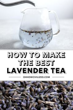 Lavender tea is an herbal drink made from dried lavender flower buds. See the proper way to brew this floral beverage, hot and cold. Making Herbal Tea, Making Iced Tea, Natural Sleep Remedies, Natural Cures, Tea Sandwiches, Finger Sandwiches, High Tea Food, Sleep Tea, Lavender Benefits