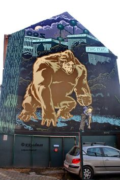 Wall paints, Muurschilderingen, Peintures Murales,Trompe-l'oeil, Graffiti, Murals, Street art.: Brussel - Belgium Cartoon Mezzo