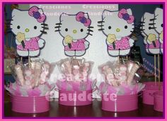 hello kitty baby shower decorations | AYUDA CON CENTROS DE MESA HELLO KITTY NECESITO MOLDES.