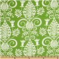 Michael Miller Christmas Large Whimsy Doozie Lawn Green. Designed by Pillow & Maxfield for Michael Miller Fabrics. This fabric is perfect for quilting, craft projects, apparel and home decor accents. Colors include white on a lime background.. Price: $7.18