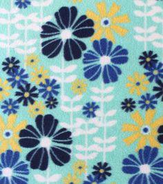 Anti-Pill Fleece Fabric Springtime Flowers