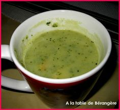 Soupe de courgettes weight watchers - A la table de Bérangère