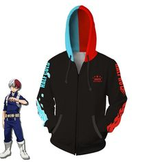 Anime my hero academia todoroki shoto hoodie sweatshirt cosplay jacket coat My Hero Academia Merchandise, My Hero Academia Memes, Hero Academia Characters, Cosplay Outfits, Anime Outfits, Hoodie Sweatshirts, Tsuyu Cosplay, My Hero Academia Costume, Kawaii Clothes