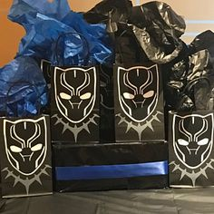Items similar to Super hero goodie bags/ favor bags/favor box on Etsy Baby Boy Birthday, 2nd Birthday Parties, 7th Birthday, Birthday Party Decorations, Birthday Ideas, Black Panther Party, Black Panther Marvel, Party Items, Etsy App