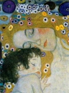 Gustav Klimt. The Three Ages of Woman. 1905. Oil on canvas. 180 x 180 cm. Galleria Nazionale d'Arte Moderna, Rome, Italy