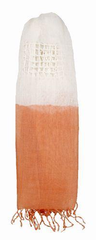 Linen Webbed Dip-Dye Scarf