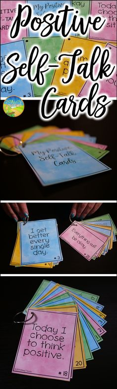 Positive self-talk cards for kids and young adults