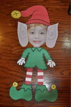 Christmas Crafts Elf Yourself Craftivities and Literacy Activities by Katie Mense Kids Crafts, Craft Activities For Kids, Preschool Crafts, Literacy Activities, Craft Ideas, Holiday Activities, Craft Projects, Christmas Activities For Toddlers, Preschool Bulletin