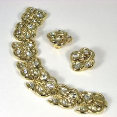 Trifari Bracelet & Earrings - available in our shop The Vintage Jewelry Boutique on Ruby Lane.
