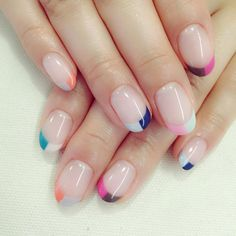 Nail designs or nail art is a really straightforward notion. Nail art is the technique to boost the high quality and appearance of your nails. You are able to create all your art the exact same on each nail, or you may create freehand works of art. French Manicure Nails, French Manicure Designs, French Tip Nails, Manicure And Pedicure, Manicure Ideas, Colorful French Manicure, Summer French Manicure, French Summer, Nude Nails