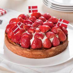Jordbærtaerte  (strawberry tart)