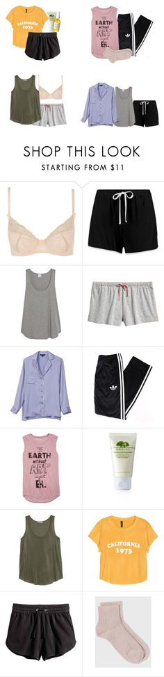 """""""Alicia Clark Sleepwear - ftwd / fear the walking dead"""" by shadyannon ❤ liked on Polyvore featuring Mimi Holliday by Damaris, Boohoo, Iris & Ink, Front Row Shop, adidas, dELiA*s, Origins, H&M and French Girl"""