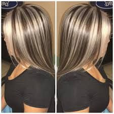 Resultado de imagen para brown hair with chunky blonde and auburn highlights