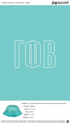 Gamma Phi Beta Bucket Hat | Sorority Bucket Hat | Greek Bucket Hat #gammaphibeta #gfb #gpb #Bucket #Hat Custom Design Shirts, Gamma Phi Beta, Sorority, Screen Printing, Bucket Hat, Greek, Accessories, Screen Printing Press, Bob