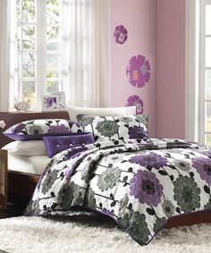 Purple Flower Danielle Quilt Set