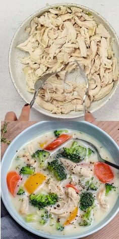 Chicken Broccoli Soup, Broccoli Soup Recipes, Chicken Soup Recipes, Broccoli Cheddar, Creamy Chicken, Chicken Soups, Chicken Alfredo, Vegetarian Recipes Videos, Healthy Dinner Recipes