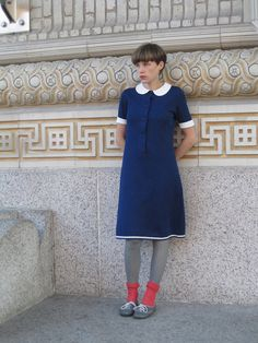 I like this dress; I am a fan of the Peter Pan collar.
