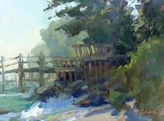 """Southward View by Jonathan McPhillips Oil ~ 9"""" x 12"""""""