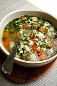 Wedding Soup Italian Wedding Soup is a great way to celebrate the cooler weather. No marriages necessary!Italian Wedding Soup is a great way to celebrate the cooler weather. No marriages necessary! Soup Recipes, Cooking Recipes, Healthy Recipes, Cookbook Recipes, Recipes Dinner, Recipies, Wedding Soup, Soup Kitchen, Winter Food