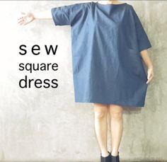 diy sew a square linen japanese dress saltymom.net