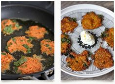 Indian Carrot Fritters